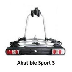 Sport 3. Portabicicletas Abatible para Bola de Enganche valido para 3 Bicicletas en Sistema de Railes modelo Sport 3. Leer más..