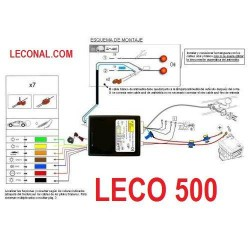 LECO500. KIT ELECTRICO 7 Polos UNIVERSAL para vehiculos con ordenador a bordo. Leer mas ...