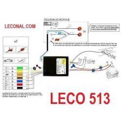 LECO513. KIT ELECTRICO 13 Polos UNIVERSAL que Desconecta los Sensores de Aparcamiento. Leer mas ...