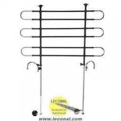 Separador Metalico para Perros. Medidas Extensibles: Alto de 75 cm a 140 cm y Ancho de 85 cm a 154 cm.