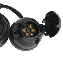 Kit Electrico Basico de PVC 7 polos. Longitud de cable: 190 cm. Referencia 022004.