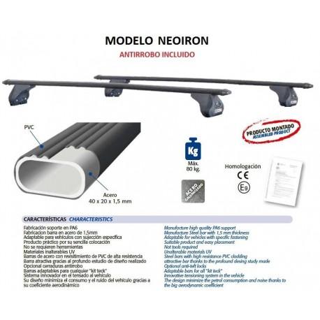 Juego de 2 barras NeoIron para Ford FOCUS C-MAX (I) de 2003 a 2010.