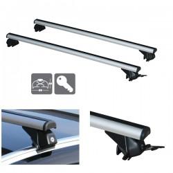 Juego de 2 barras Aluminio LONGPLAY RAILING ALU para Kia SORENTO (III) de 2015 en adelante