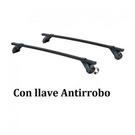 Juego de 2 barras Acero Negro LONGPLAY IRON para FIAT 500 C (CABRIO), de 2009 en adelante. Ref: 105521169.