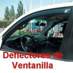 Deflectores de Ventanilla para Mazda 2 (II), 5 Puertas de 2007 a 2014. ADHESIVO EXTERIOR.