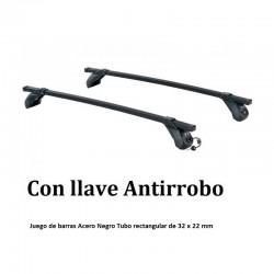 Juego de 2 barras Acero Negro LONGPLAY IRON para VOLVO S60 (I), de 2002 a 2010. Ref: 105531085.