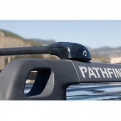 Juego de 2 Barras para Nissan PATHFINDER (R51), CON BARRAS LONGITUDINALES, de 2004 a 2013. Modelo IRONFIX.