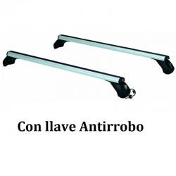 Juego de 2 Barras Aluminio LONGPLAY ALU para HYUNDAI i20 (II), 5 Puertas, TECHO ACRISTALADO, de 2014 a 2021.
