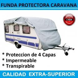 Funda Exterior de Proteccion para Caravanas de hasta 425 cm Largo con Protección de 4 Capas.