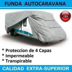 Funda Exterior de Proteccion Motorhome para Autocaravanas de 500 a 530 cm de Largo con Protección de 4 Capas.