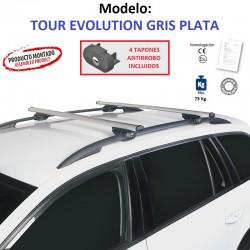 Barras de Techo en Aluminio para Volkswagen GOLF PLUS (II), Con Barras Longitudinales, de 2008 a 2014.