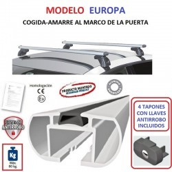 Juego de 2 Barras en Aluminio para Seat LEON (III), 5 Puertas, de 2012 a 2020.