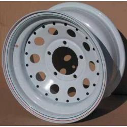 Llanta Modular Acero Blanco Bullface 7x16